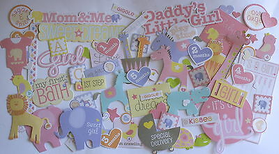 SCRAPBOOKING NO 021 - 60 DIE CUT DOUBLE SIDED BABY GIRL Pack