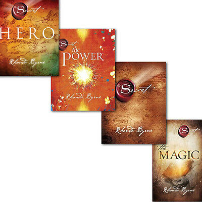 Rhonda Byrne The Secret Series 4 Books Collection Set Pack, Hero The Secret, Mag