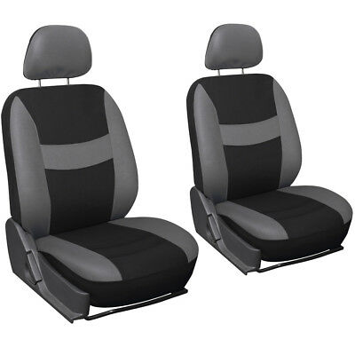 Truck Seat Covers for Toyota Tacoma 6pc Bucket Grey Black w/Head Rest Mesh