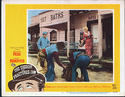 THE SHERIFF OF FRACTURED JAW orig 1959 lobby card JAYNE MANSFIELD/KENNETH MORE