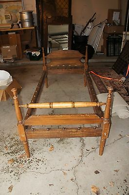 Early American Twin Single Vintage Rope Bed