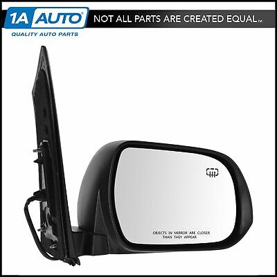Mirror Power Heated Smooth Black Passenger Side Right RH for 11-12 Toyota Sienna