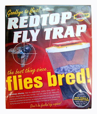 Genuine Redtop Fly Trap The Ultimate Fly Trap up to 20,00 Flies Caught per Trap
