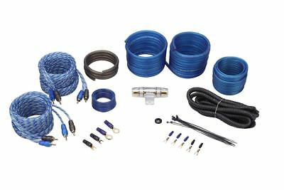 Rockville RWK82 8 Gauge 4 Chan Car Amp Wiring Installation Wire Kit (2) RCA's