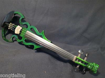 SONG Brand streamline carved dragon scroll 4/4 electric violin,solid wood