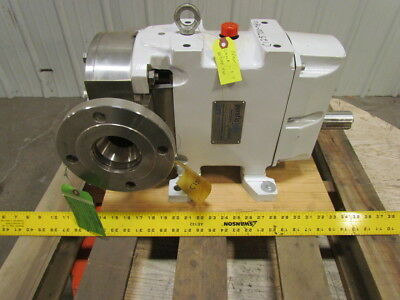 "Jabso Hygienic Positive Displacement Rotary Lobe Pump 316 Stainless 3"" NPT Ports"