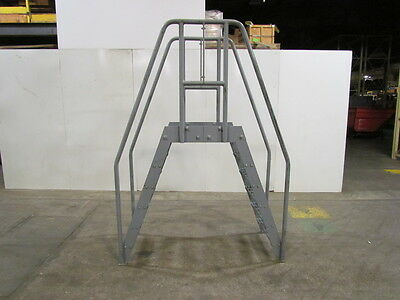 "Steel Crossover Ladder Space Saver Design 24""Wx24"" Clear Span 47"" High Clearance"