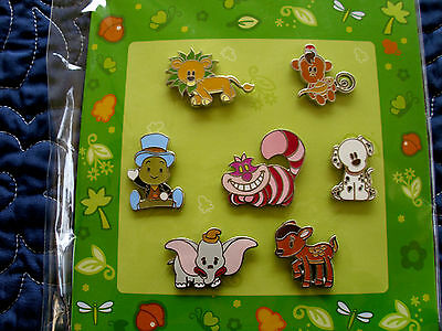 Disney * CUTE ANIMAL CHARACTERS * NEW 7 Pin Booster Set