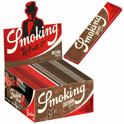 Smoking 50 x 33 Brown King Size Papers Blättchen Zigarettenpapier Longpapers