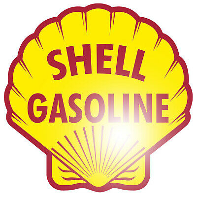 Shell Gasoline Aufkleber Sticker Tuning Oldschool Oldtimer US Car V8 Hot Rod