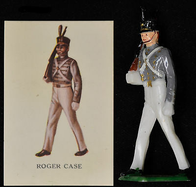 Louis Marx Roger Case Cadet near Mint box 2 Warriors of the World toy soldier