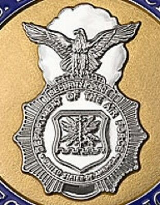Air Force Security Police enameled Nickel Medallion USAF challenge coin