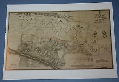 Postcard of Civil War Map - Battlefield of Chickamauga Georgia September 1863