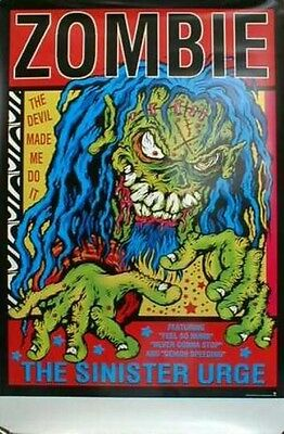 ROB ZOMBIE 2002 BIG sinister urge promo poster~MINT condition~NEW old stock~!