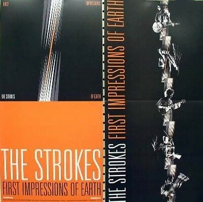 THE STROKES 2006 first impressions 2 sided promotional poster ~ NEW old stock~!!