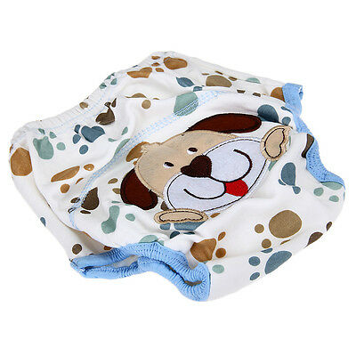 Cotton Reuseable Baby Infant Diaper Pant Waterproof Cover Training Dog Print