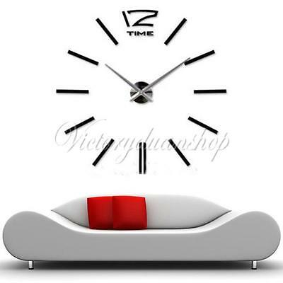 trendy 3d maison moderne horloge murale pendule montre art. Black Bedroom Furniture Sets. Home Design Ideas