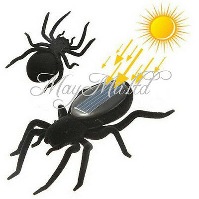 Educational Solar Energy Powered Spider Robot Toy Gadget For Kids S