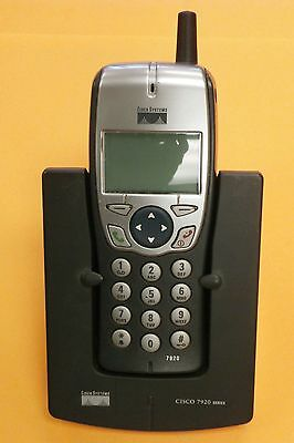 Cisco Cp-7920 (Used) Wireless Ip Phone W/ Desktop Charging Stand Ac Adapter  Lot