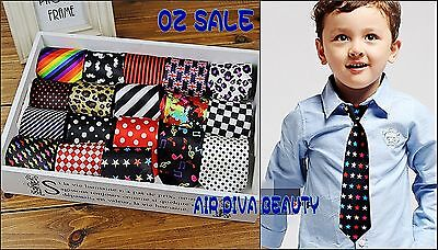 1P Boys Kids Children Elastic Adjustable Wedding Party Formal Casual Tie Necktie