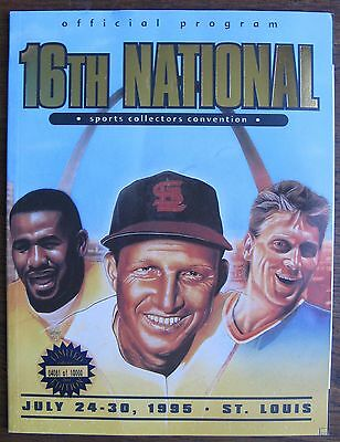 """July 1995 """"16th National Sports Collectors Convention Program"""", St. Louis, MO"""