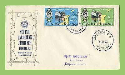 Trinidad & Tobago 1961 Scout Jamboree set, First Day Cover addressed