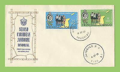 Trinidad & Tobago 1961 Scout Jamboree set, First Day Cover, unaddressed