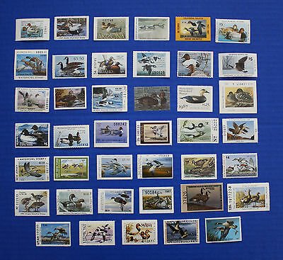 U.S.  1987 State Duck Stamp Collection - 41 MNH stamps