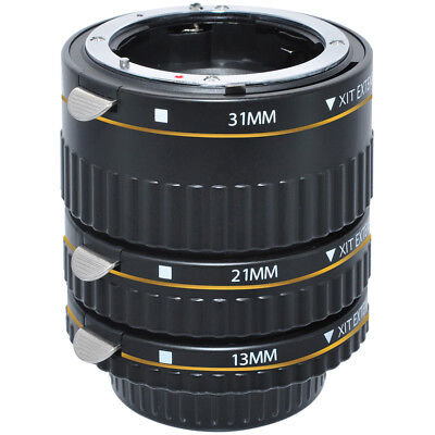 Xit Photo Canon Pro Series Auto Focus Macro SLR Camera Extension Tube Set -XTETC