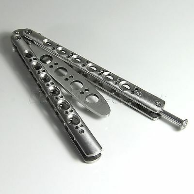 High Quality Metal Steel Practice Balisong Butterfly Trainer Knife with Sheath