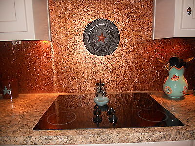 Roll of Faux Tin Kitchen Backsplash (WC40 Ant.Copper) 15' long