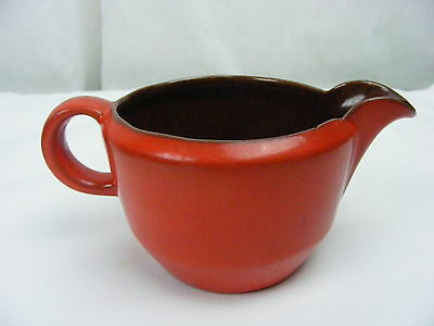 Vintage Frankoma Pottery Red Orange 10 OZ Creamer 6A