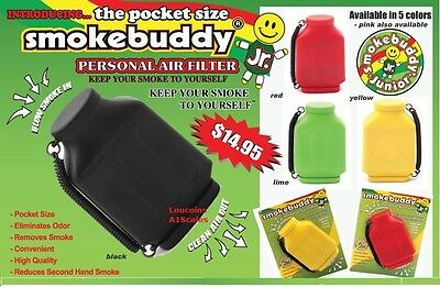 YELLOW Smoke Buddy JR. Personal Smoking Air Purifier Charcoal Filter SmokeBuddy