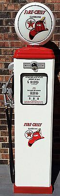 New Texaco Fire Chief Reproduction Replica Gas Pump - Free Ship* - White &  Red