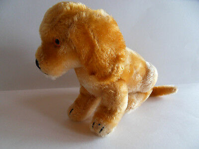 Steiff dog, Revue Susi, mohair, large,  w. button/flag, made in Germany 389