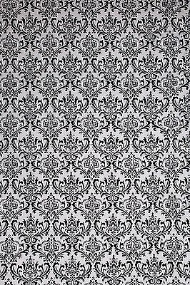 Studiohut 9' X 12' Gray/Black Damask Cloth Photo Video Backdrop/Background