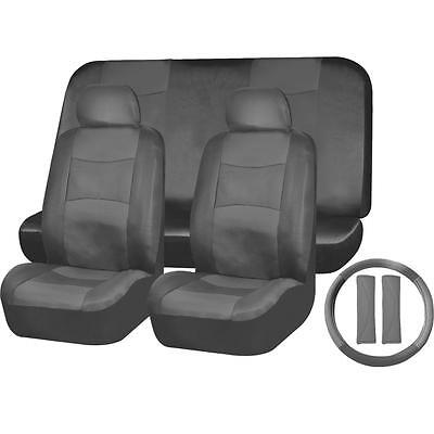 PU LEATHER SOLID Dark Gray SEAT COVERS SET for NISSAN ROGUE MAXIMA TITAN QUEST