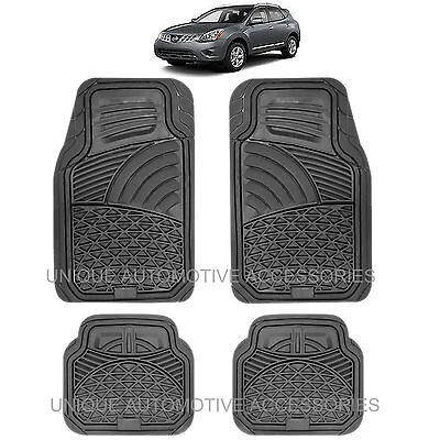 Ultra Heavy Duty Black Rubber Floor Mats For Nissan Murano Altima Versa Quest