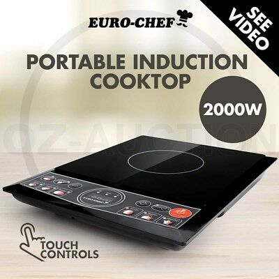 NEW Euro-Chef Electric Induction Cook Top Portable Hot Plate Kitchen Cooker