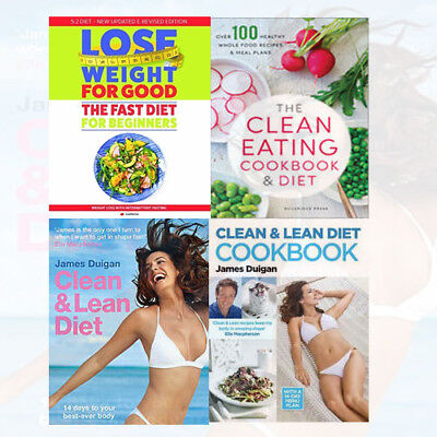 Clean & Lean Diet Collection 4 Books Set Eating Cookbook How To Lose Weight For