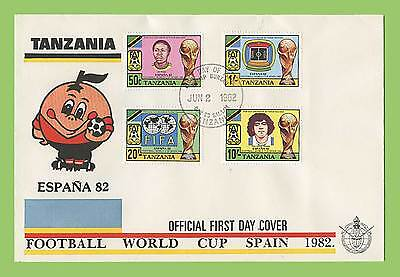 Tanzania 1982 World Cup Football Championship, Spain First Day Cover