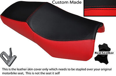 RED /& BLACK CUSTOM FITS GILERA ICE 50 REAL LEATHER SEAT COVER ONLY