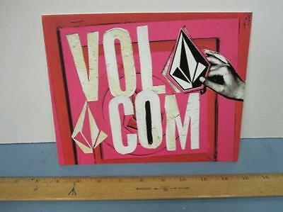 VOLCOM surf `06 MED stone plastic display sign ~NEW~!