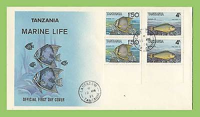 Tanzania 1986 Marine Life set on First Day Cover