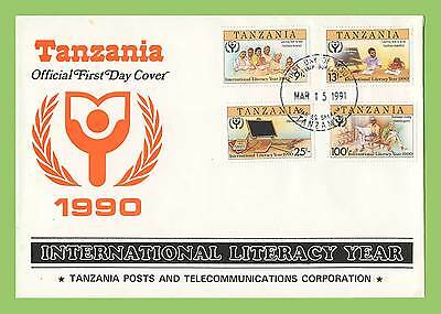 Tanzania 1991 Literacy Year set First Day Cover