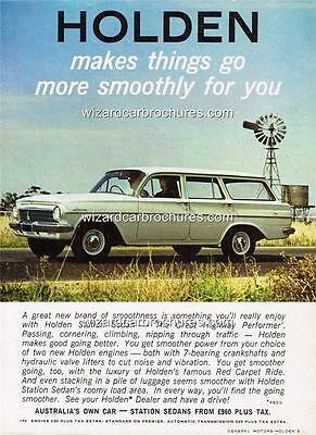 1964 Holden Eh Station Wagon A3 Poster Ad Sales Brochure Advertisement Advert