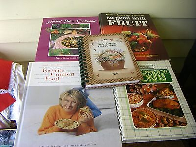 Lot of 5 Different Vintage Cookbooks For People On the Go & Health Conscious