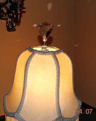 Lamp Topper Shade Finial Diamond Lead Crystal Glass Cut Faceted Repairs Parts
