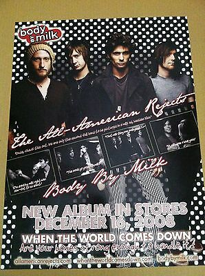 ALL AMERICAN REJECTS Body by MILK 2008 PROMO POSTER for When the World CD MINT