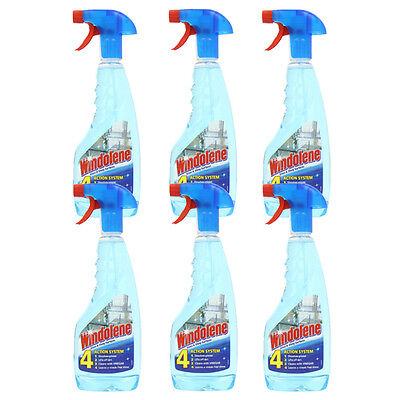 Windolene 4 Action Glass and Shiny Surfaces Cleaner Spray 500ml Pack of 6